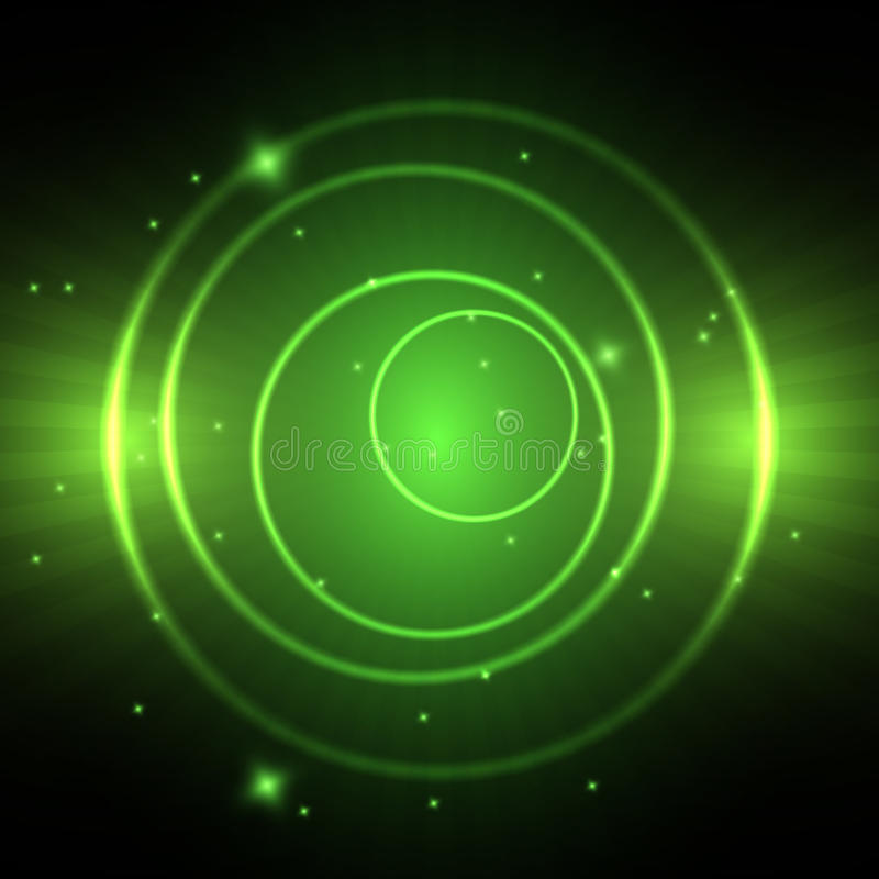 Groene neoncirkel royalty-vrije illustratie