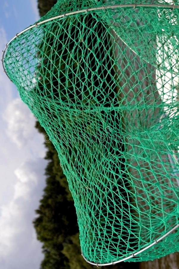 Groene netto voor vissen stock afbeelding