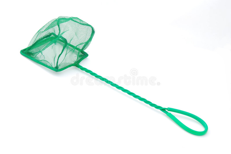 Groene netto voor vissentank stock foto's