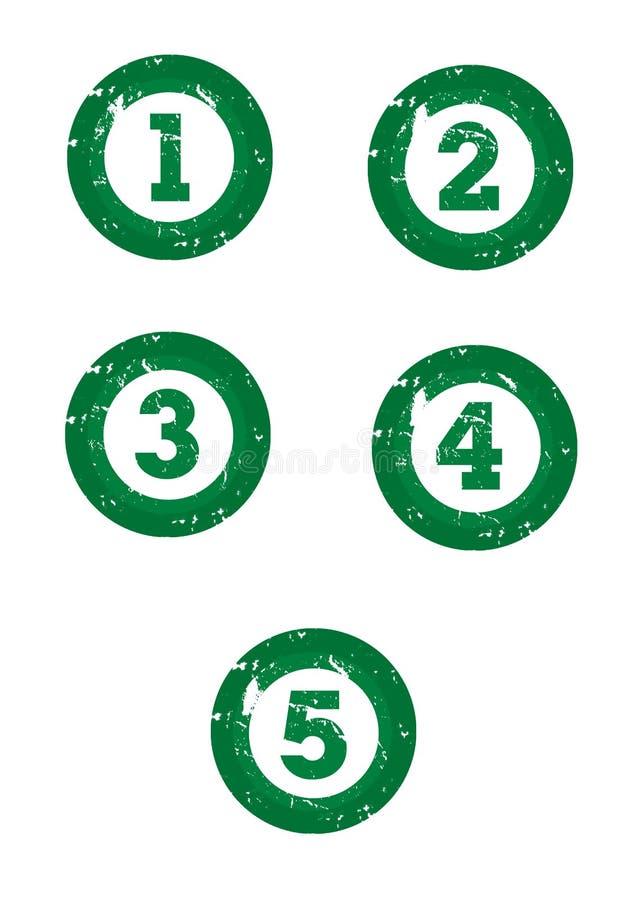 Groene nummers royalty-vrije illustratie