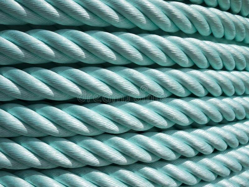Groene Nylon kabel stock foto's