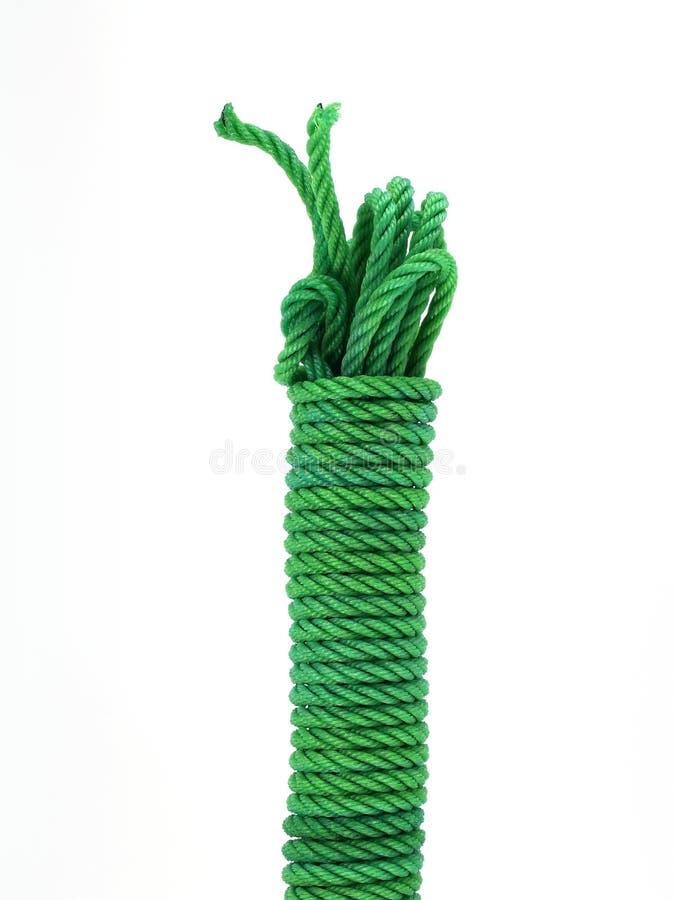 Groene nylon kabel stock fotografie