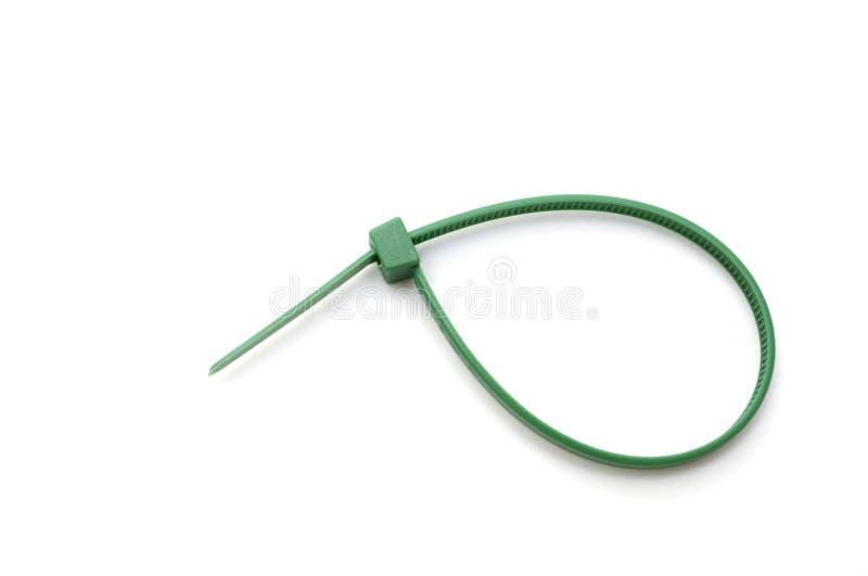 Groene nylon kabelband royalty-vrije stock foto's