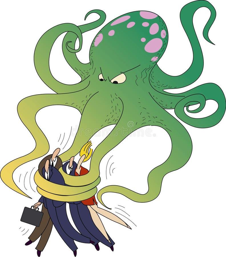 Groene octopus vector illustratie