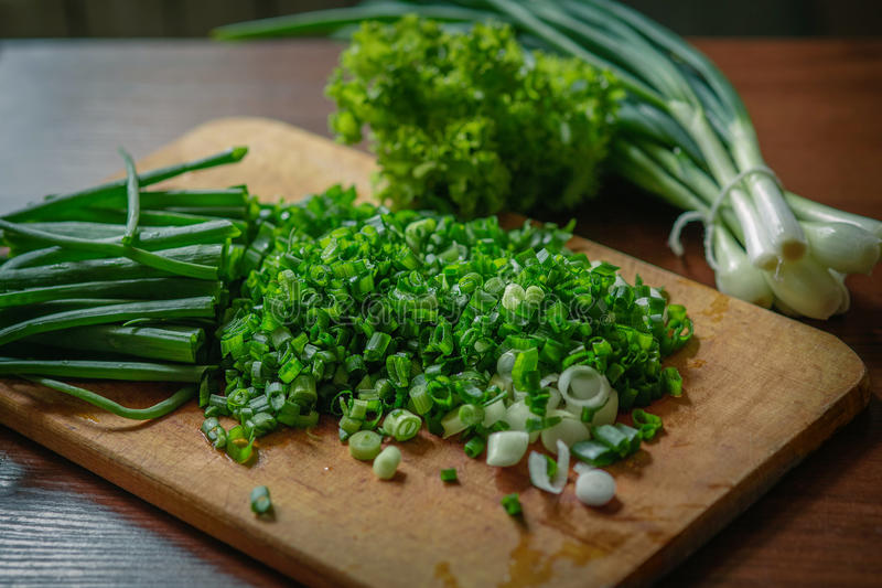 Groene onions royalty-vrije stock foto