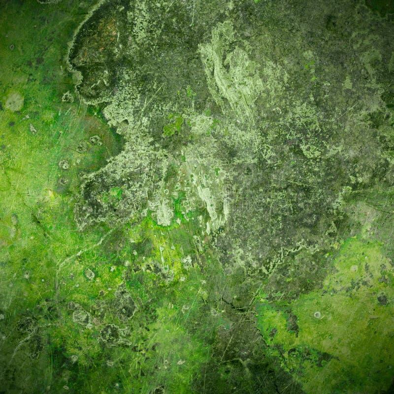 Groene oude de plaatachtergrond van het roestmetaal royalty-vrije stock foto's