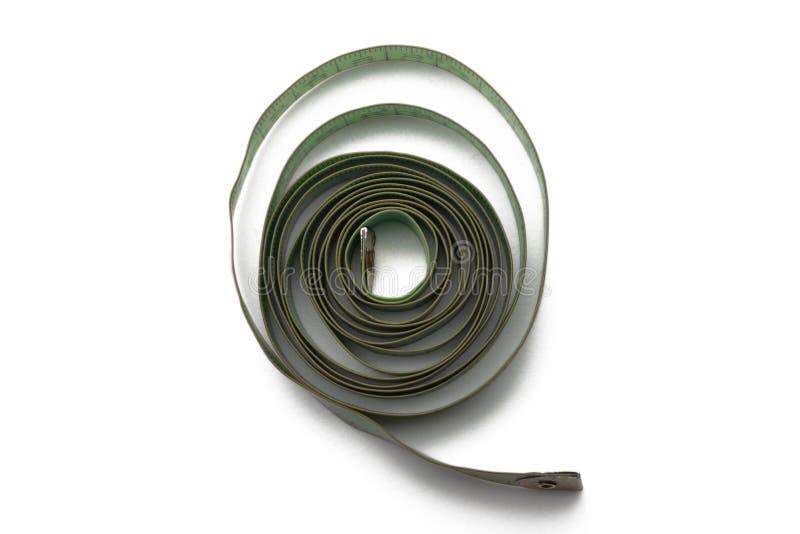 Groene oude en gebruikte metende band van de kleermaker royalty-vrije stock foto's