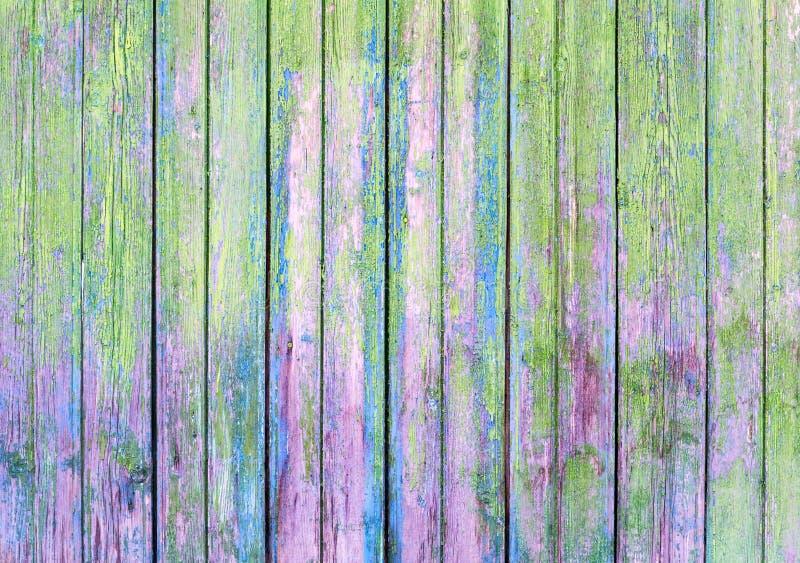 Groene oude geschilderde houten achtergrond royalty-vrije stock afbeelding
