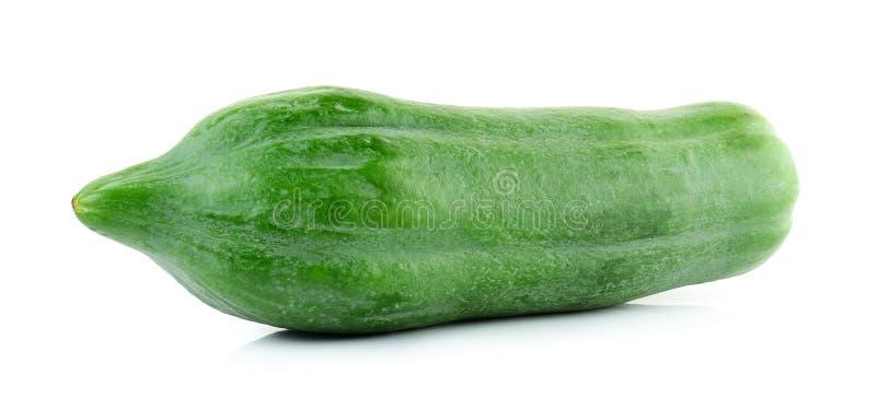 Groene papaja op de witte achtergrond royalty-vrije stock foto