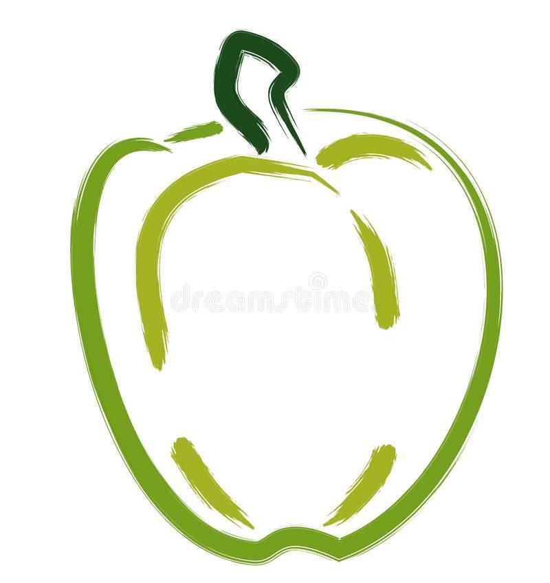 Groene paprika vector illustratie