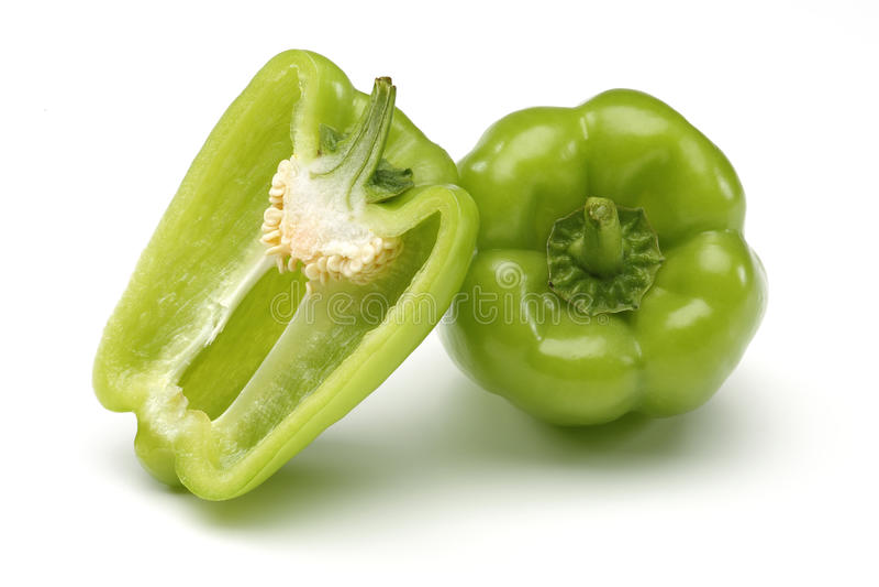 Groene paprika royalty-vrije stock foto's
