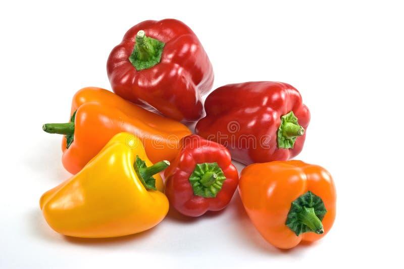 Groene paprika's stock foto's