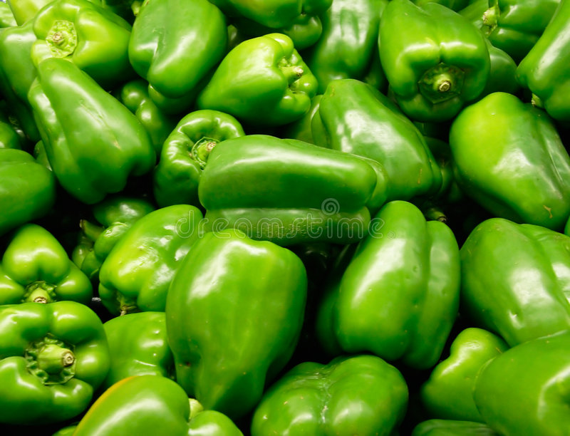 Groene paprika's royalty-vrije stock foto