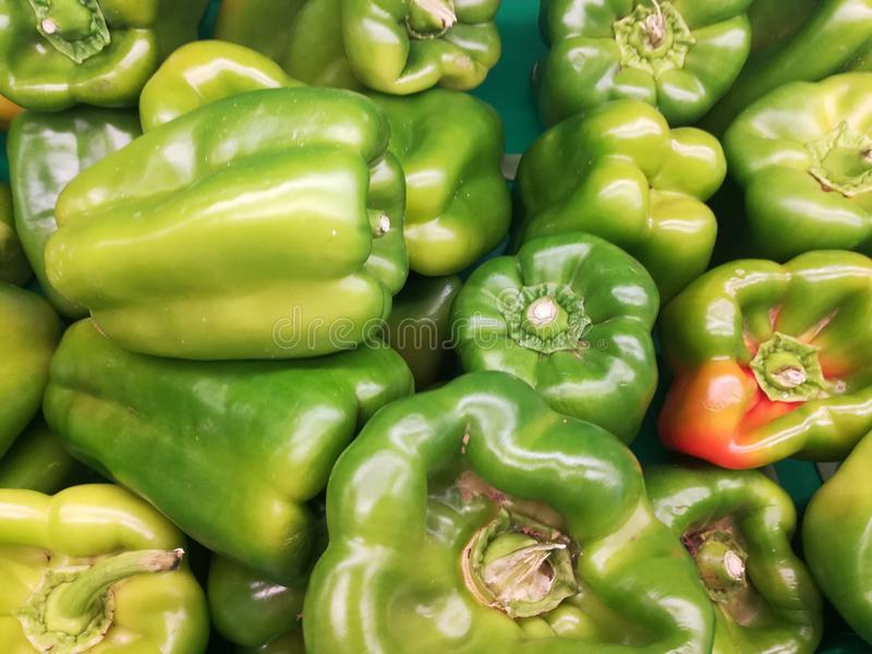 Groene paprika'sgroenten royalty-vrije stock afbeelding