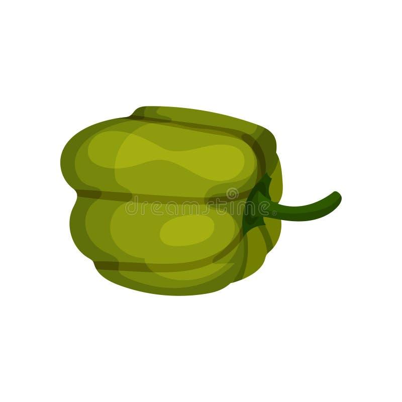 Groene paprika vers voedsel vegetable Organisch Product Natuurlijk en gezond voedsel Vlak vectorpictogram vector illustratie