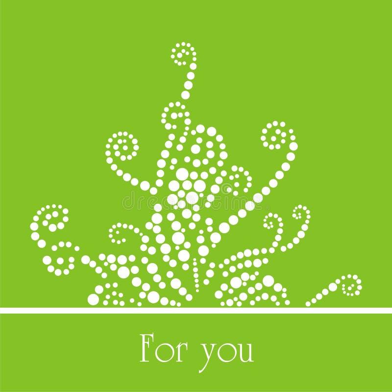 Groene patronen vector illustratie