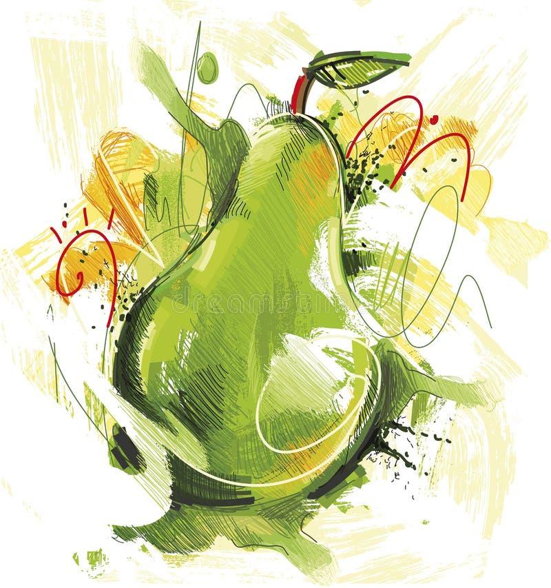 Groene peer royalty-vrije illustratie