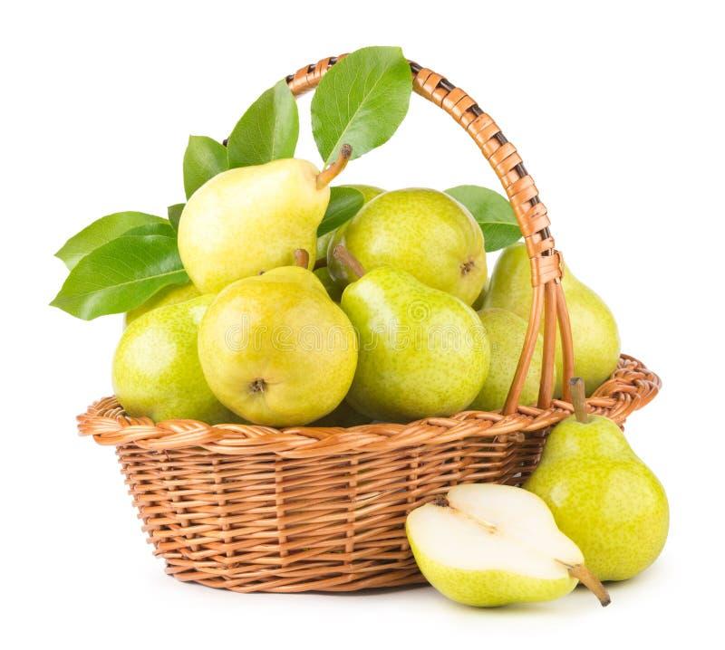 Groene peren stock fotografie