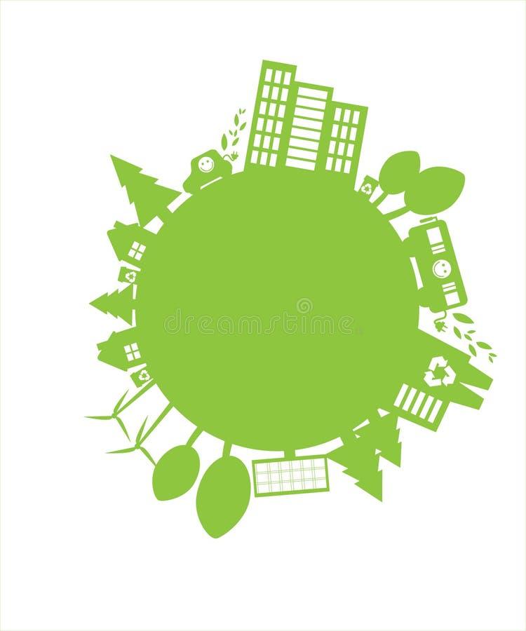 Groene planeet royalty-vrije illustratie