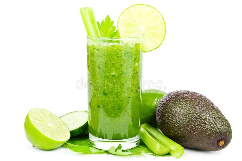 Groene plantaardige smoothie royalty-vrije stock foto