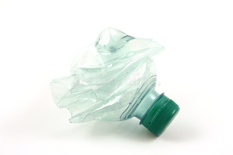 Groene plastic fles stock afbeelding