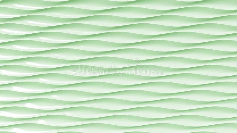 Groene plastic golvende lijnen het 3d teruggeven vector illustratie