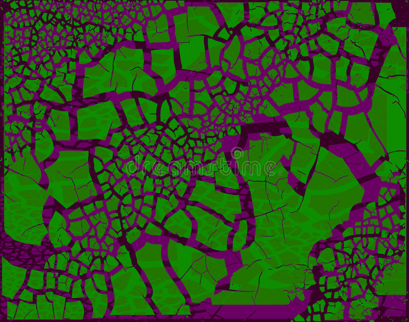 Groene purpere grunge vector illustratie