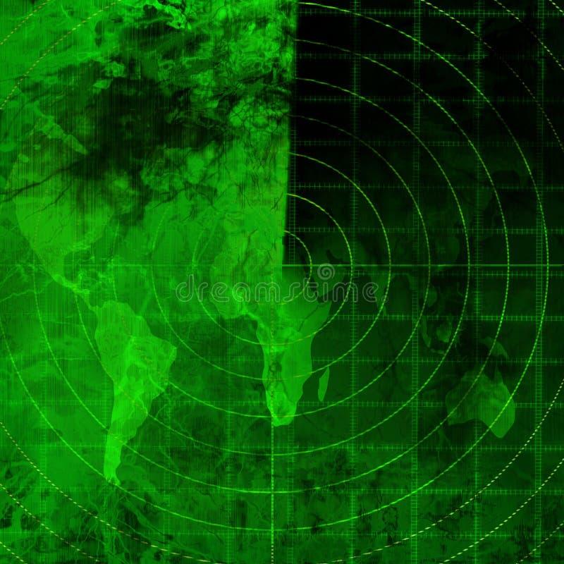 Groene radar royalty-vrije illustratie