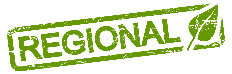 groene REGIONALE zegel royalty-vrije illustratie