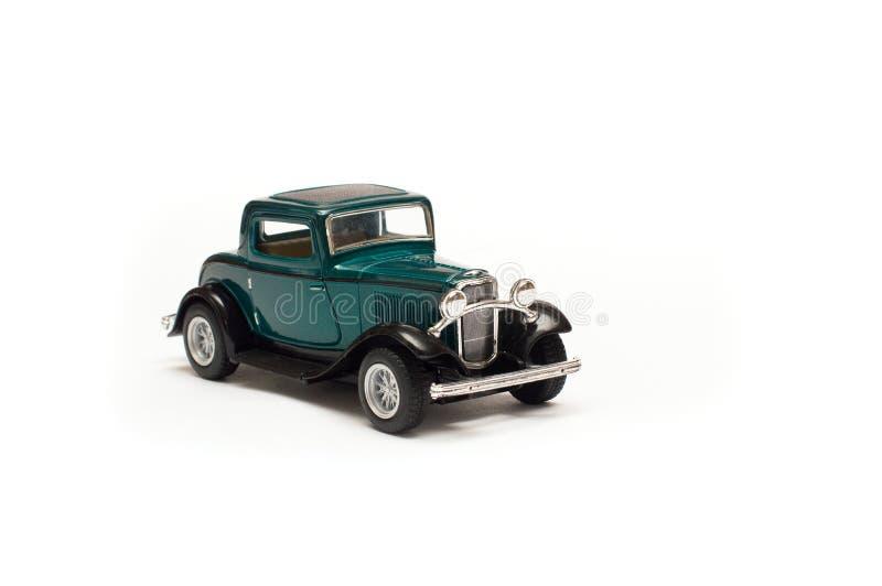 Groene retro uitstekende auto royalty-vrije stock fotografie