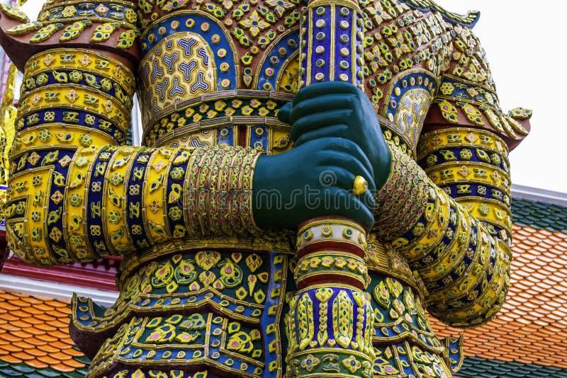 Groene Reus in Wat Phra Kaew of naam officieel als Wat Phra Si Rattana Satsadaram stock foto's