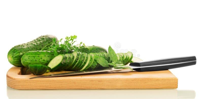 Groene rijpe Komkommerplakken royalty-vrije stock afbeeldingen
