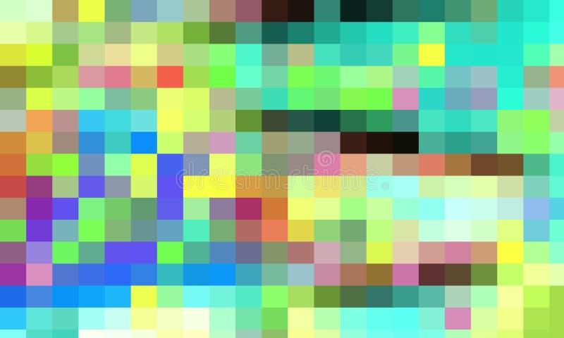 Groene rode gele blauwe oranje vierkantenvormen, achtergrond, textuur vector illustratie