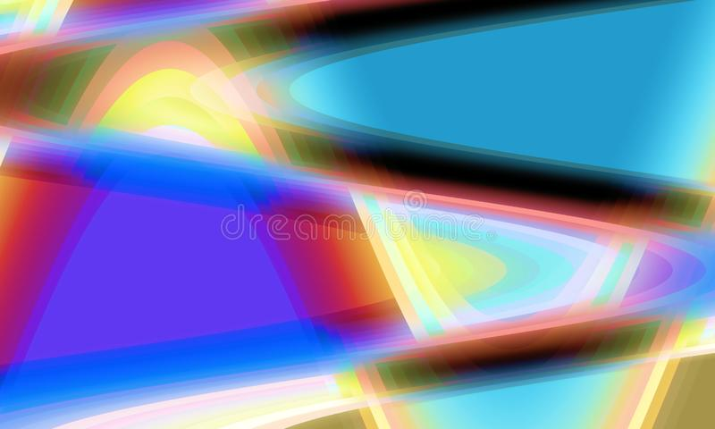 Groene rode gele blauwe oranje vloeibare vormen, achtergrond, textuur stock illustratie