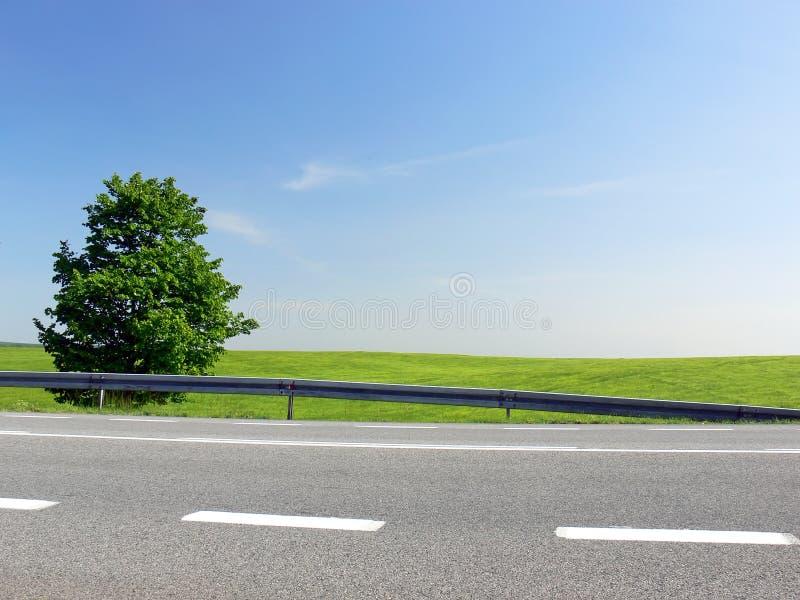 Groene route - sluit omhoog stock foto's