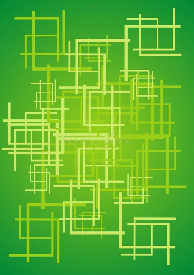Groene samenvatting royalty-vrije illustratie