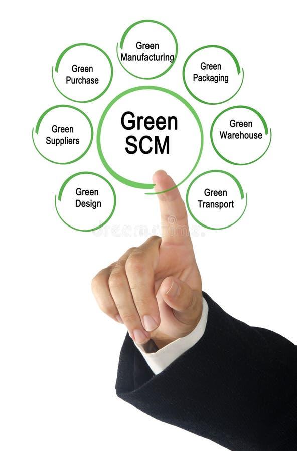 Groene SCM-Componenten stock foto