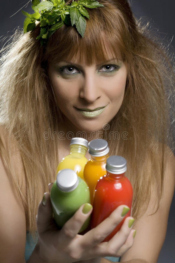 Groene skincareproducten royalty-vrije stock afbeeldingen