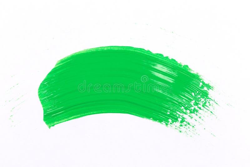 Groene slag van de verfborstel stock foto's