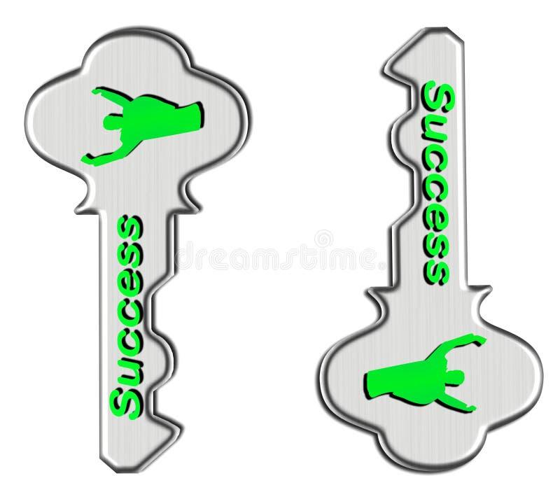 Groene sleutels tot successs vector illustratie