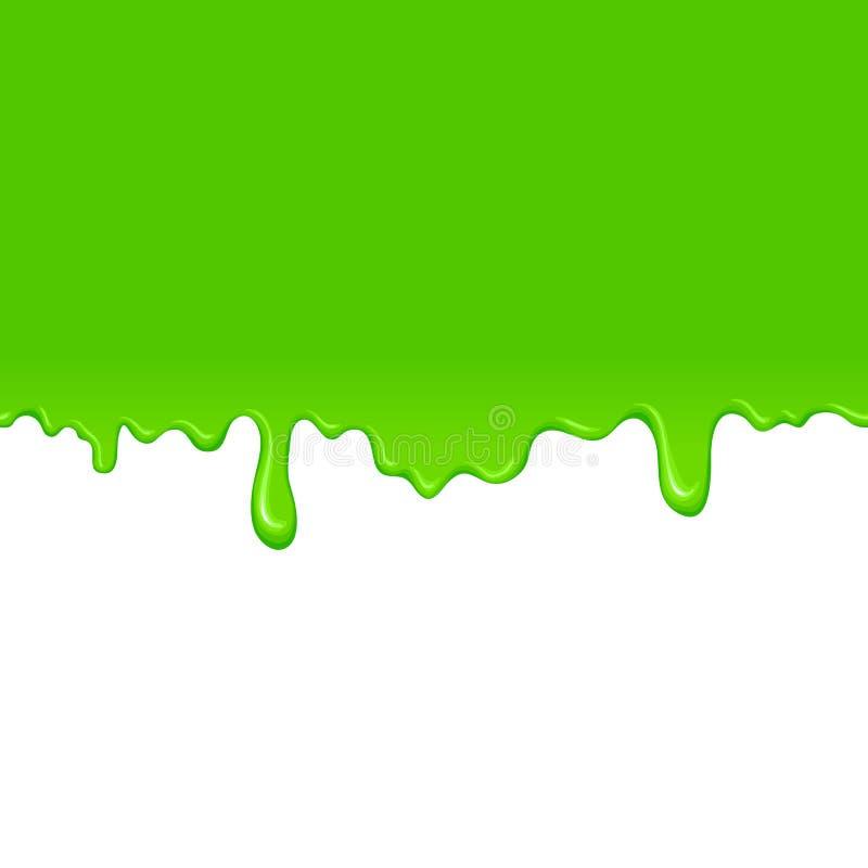 Groene slijmachtergrond royalty-vrije illustratie