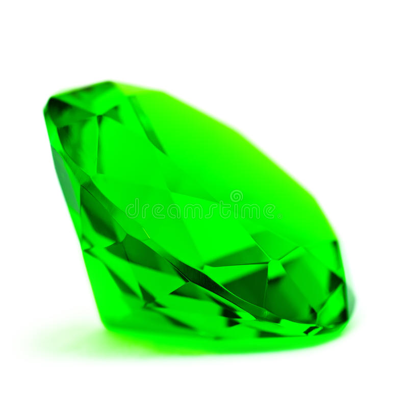 Groene smaragdgroene halfedelsteen royalty-vrije stock foto