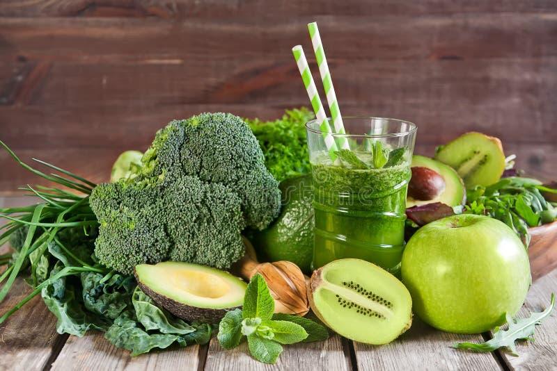 Groene Smoothie stock afbeelding
