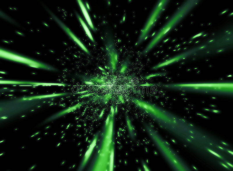 Groene snelheid stock illustratie
