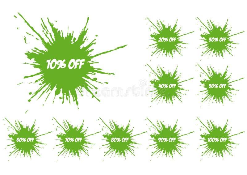 Groene spat vector illustratie