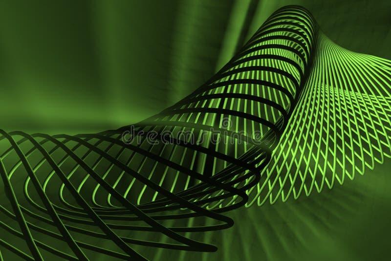 Groene spiraalvormige samenvatting royalty-vrije illustratie