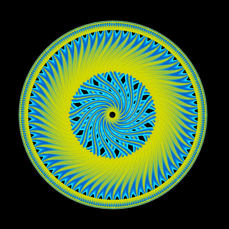 Groene Spokes vector illustratie