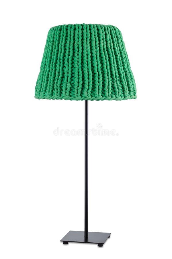 Groene staande lamp stock foto's