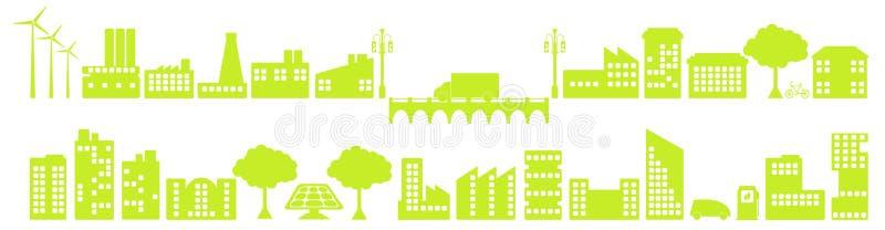 Groene stad stock foto's