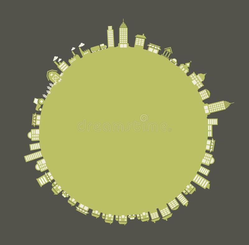 Download Groene stad vector illustratie. Illustratie bestaande uit groen - 54085458